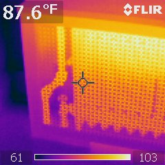heat visible through cover